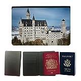 PU Pass Passetui Halter Hülle Schutz // M00314236 Schloss-Winter-Natur Schnee Deutschland // Universal passport leather cover