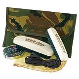 Necessaire Entretient Chaussures (2 Brosses - Cirage - Lacets - Chiffon pour faire briller) Camouflage - Militaire