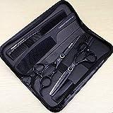 HEMATITE Ciseaux de coiffure pour coiffure Noir 17.5 cm