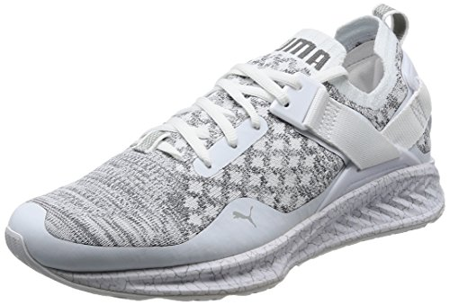 Puma ignite evoknit lo hypernature, scarpe sportive outdoor uomo, bianco (white-quarry-quiet shade), 44 eu