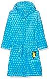 Playshoes Kinder Fleece-Bademantel mit Kapuze, flauschiger Morgenmantel für Jungen, die Maus-, Sternen-Stickung allover