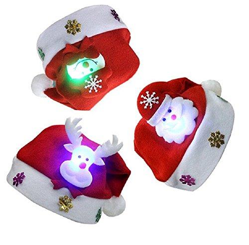 ILOVEDIY Led Weihnachtsmütze Beleuchtet Weihnachtsmann Elch Schneemann Nikolaus Mütze Xmas Mützen Für Kinder & Erwachsene (Schneemann, Für Erwachsene)