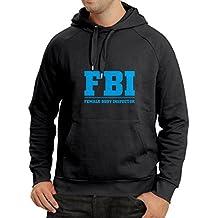 Sudadera con capucha Inspector del cuerpo femenino - FBI - citas de la broma, lemas divertidos