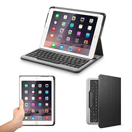 Anker Bluetooth Folio Tastatur Case Hülle für iPad Air 2 — Smart Case mit Auto Wake / Sleep Funktion - 3