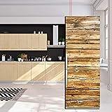 JY ART Autocollants de Porte de réfrigérateur Texture de Planche de Bois 3D Décoration Bricolage Réfrigérateur Autocollants Cuisine Stickers Muraux, 60 * 180cm
