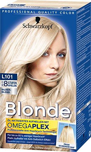 Schwarzkopf Blonde Aufheller L101 Silberblond Haarentfärber, Stufe 3, 3er Pack (3 x 170 ml)