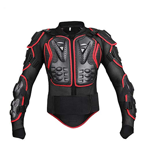 Kontakte Kostüm Red - Kontakte-Sport Motorrad Rüstung Körperschutz Jacke Motorrad Körperschutz Jacke Brustschutz Erwachsene Männer Frauen (Color : Red, Size : S)