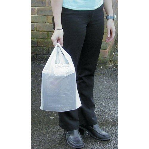 Vest Carrier bags Blanc 13 cm x 19 cm x 23 '- (1 Paquet = 1000 sacs robustes