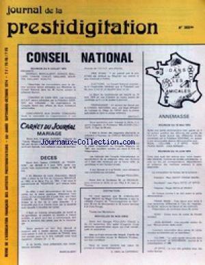 JOURNAL DE LA PRESTIDIGITATION [No 300] du 01/11/1974 - CONSEIL NATIONAL. par Collectif
