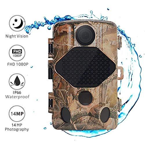 MKJYDM HD Night Camera 14MP 1080P Trail Night Game Action Action Activate IP66 Waterproof per La Sicurezza Domestica E La Caccia alla Natura Macchina Fotografica da Caccia