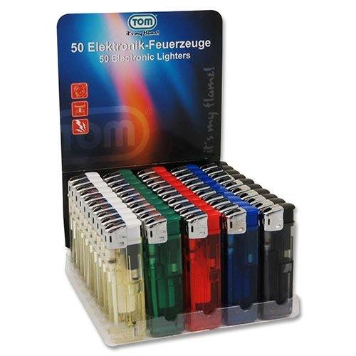 Elektronische Einweg Feuerzeuge mit elektronischer Piezo Zündung 50 Stück