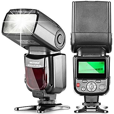 Neewer® NW580/VK750 Speedlite Flash con pantalla LCD para Canon & Nikon digitales DSLR cámaras, como la Canon EOS 5D Mark III, 5D Mark II, 1Ds Mark 6D, 5D, 7D, 60D, 50D, 40D, 30D, 300D, 100D, 350D, 400D, 450D, 500D, 550D, 600D, 650d, 700D, 1000D, 1100D, EOS Digital Rebel, SL1, XT, Xti, Xsi, T1i, T2i, T3i, T4i, T5i, XS, T3; Nikon D4S D4 D3S D800 D700 D80 D90 D7000 D7100 D50 D40X D60 D5000 D5100 D5200 D5300 D40 D3000 D3100 D3200