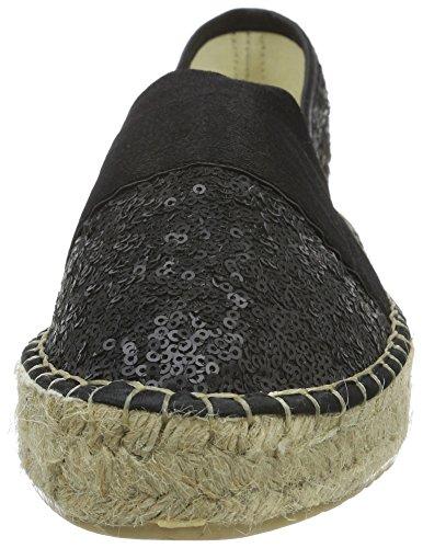 La Strada Black Sequins Espadrille, Espadrilles femme Noir - Schwarz (4201 - sequins black)