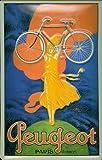 Buddel-Bini Versand Cartel de Chapa Peugeot Bicicleta Paris, diseño nostálgico relame Retro Cartel