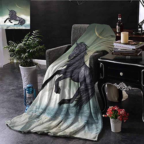 """GGACEN Couch-Decke, verlassenes antikes Schloss auf einem Berg, umgeben von stürmischen Wolken für Bett & Couch Sofa, pflegeleicht, Polyester, Color06, 50\""""x70\"""" Inch"""