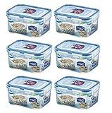6 x Lock & Lock Rechte. 470ml Lebensmittelbehälter HPL807