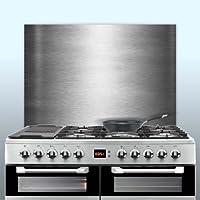 Displaypro 0.9mm Thick Brushed Stainless Steel Kitchen Cooker Hob Wall Splashback (700, 650)