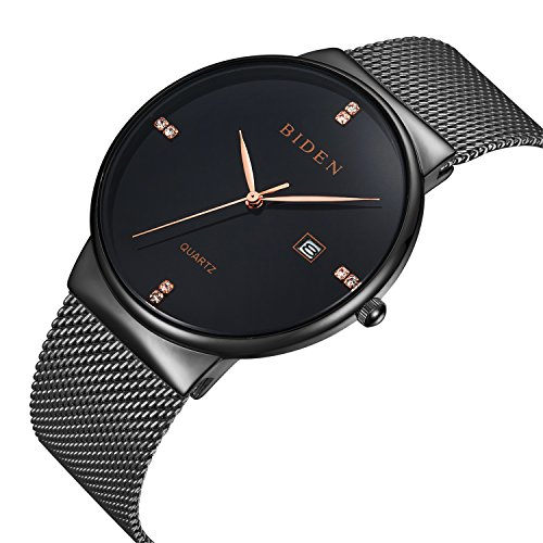 ALPS-Mens-Womens-Unisex-Waterproof-Simple-Casual-Analog-Quartz-Dress-Wrist-Watch-With-Mesh-Bracelet