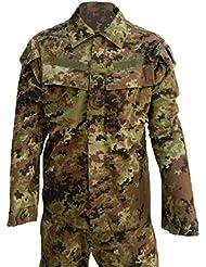 Algi - Conjunto militar, de combate y de camuflaje con la vegetación, de ripstop, polyfill, VEGETATO MIMETICO, 52