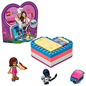 LEGO Friends - Caja Corazón de Verano de Olivia, Juguete con Mini Muñeca de Construcción para Niñas y Niños a Partir de 6 Años, Incluye Figura de un Robot (41387)