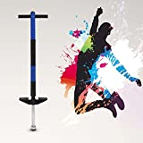 Yosoo 100cm Doble barra/94cm Single Barra Pogo Stick para Niños 6-12 años hasta 45 kg, Super Diversión y Fabricación de Calidad Resistente (Single Barra, Azul)