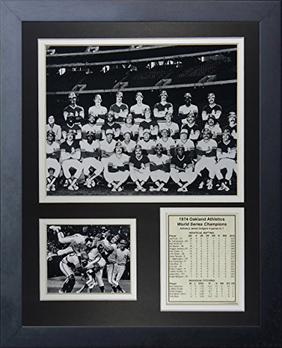 Legenden Sterben Nie 1974Oakland Athletics World Series Champions gerahmtes Foto Collage, 11x 35,6cm - Oakland Athletics Design