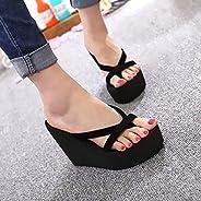 LJLLINGA Women Platform Sandals High Heel Sandals Summer Women Shoes Fashion Slippers Beach Flip Flops Solid S