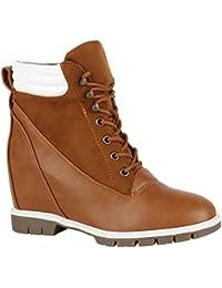 Tamaris Wedges Keilabsatz Stiefeletten Boots Leder Nieten