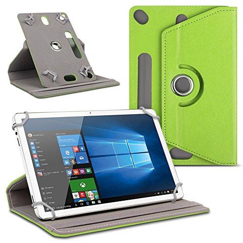 Schutzhülle für Ihr 10 - 10.1 Zoll Tablet Tasche hochwertiges Kunstleder Hülle praktische Standfunktion 360° Drehbar Schutztasche Universal Case , Farben:Grün, Tablet Modell für:Dell Venue 10 Pro