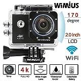 WiMiUS Action Cam 4k Wifi Sport Kamera Action Actioncam 1080P 16MP Wasserdicht Helmkamera mit 16GB...