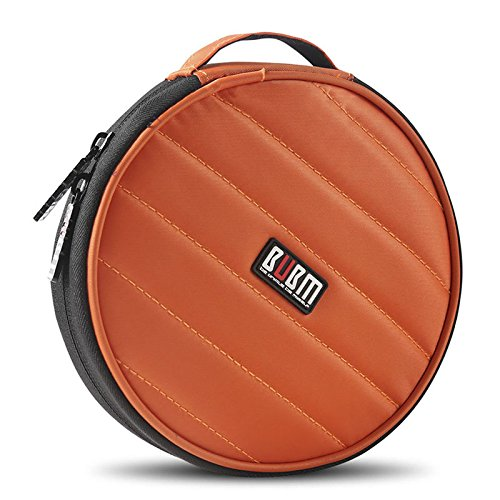 Étui de rangement de disques BUBM portable, rond et robuste avec 32emplacements, pour voiture, maison, bureau et voyage