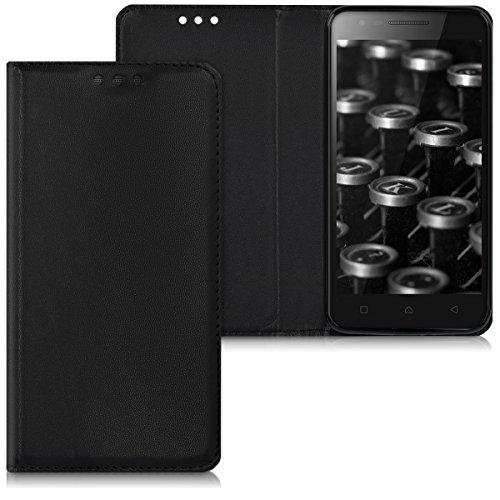 kwmobile Lenovo C2 Hülle - Kunstleder Handy Schutzhülle - Flip Cover Case für Lenovo C2