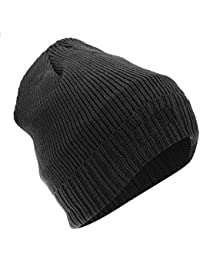 4d23ec61912 Floso Mens Thinsulate Knitted Thermal Beanie Winter Ski Hat With Inner  Lining (3M 40g
