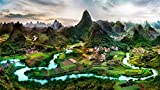 1000 Pezzi Hobbit Puzzle Zona Residenziale del Paesaggio del Paesaggio di Paesaggio Hobby Home Decoration Fai da Te