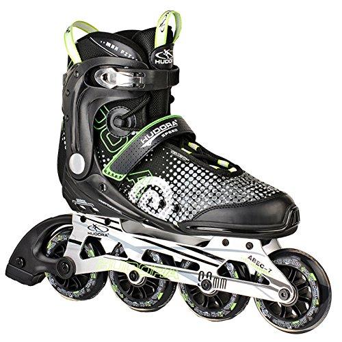 HUDORA Inliner Inline-Skates RX-90, Gr. 43, für Jugendliche und Erwachsene, schwarz/grün