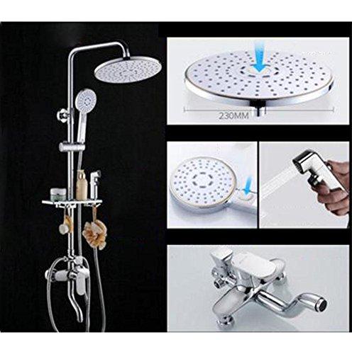 Alle Kupfer Heiß und kalt Mischventil Duschset 4 Dateien Badewanne Wasserhahn