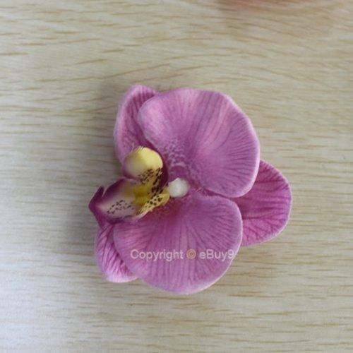 Flores-de-pelo-Clips-orqudea-6-unidades