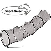 Angel Setzkescher 1,40m /Ø 36cm mit Alu Stab Knickgelenkadapter Fischnetz