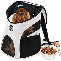 Hundetasche,Hundetragetasche,Katzentragetasche,Tragetasche Transporttasche Transportbox für Kleine Hunde und Katzen -um Ihr Tier sicher und komfortabel zu halten (geeignet für Tiere unter 7KG) (Grau)