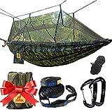 Hamaca Ultra Ligera para Viaje y Camping Paracaidas Nylon Viaje Hamacas Playa, Traspatio, Caminata y Dormir en el Interior o al Aire Libre, Camuflaje
