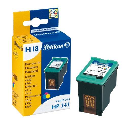 Pelikan H18 Druckerpatrone ersetzt Hewlett Packard HP343 C8766EE, 14 ml, tricolor