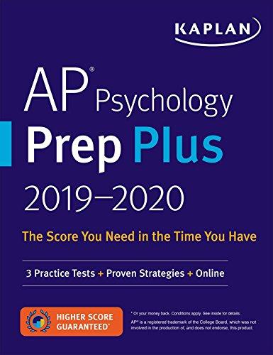 AP Psychology Prep Plus 2019-2020: 3 Practice Tests + Study Plans + Targeted Review & Practice + Online (Kaplan Test Prep) (Ap Psychology Exam Review Book)