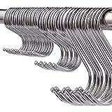 Pack van 60 S haken Heavy Duty roestvrij staal S-vorm haken voor het ophangen van hangers voor keuken, badkamer, slaapkamer e