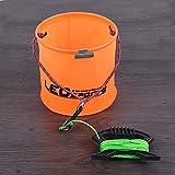 LaDicha 17cmx17cm Eva Folding Portable Fishing Bucket Waterpot Bucket -Orange