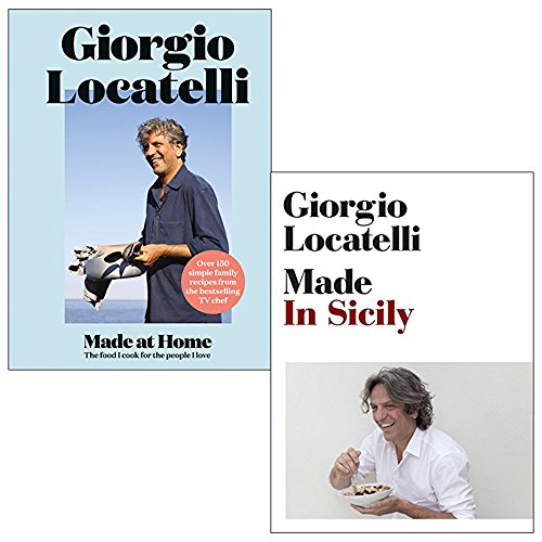 Giorgio locatelli made at home and made in sicily 2 books collection set