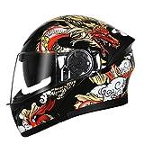 YongBe Erwachsenen Männer Klappbare Bluetooth-Motorradhelme Outdoor-Offroad-Motorräder Helme Anti...