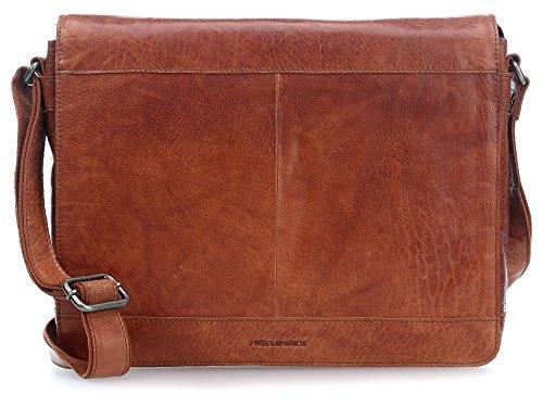 Spikes & Sparrow Bronco Messenger Bag Tasche Leder 37 cm Laptopfach brandy