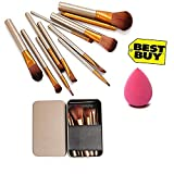 Generic Makeup Brush Set of 12 with storage box with sponge puff
