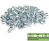 50 Stück M3x6mm DIN 912 8.8 Zylinderschrauben Innensechskant verzinkt M3x6