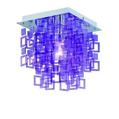 Reality|Trio Deckenleuchte Deckenlampe N9 ~ lila, 24x24cm von Mendler auf Lampenhans.de